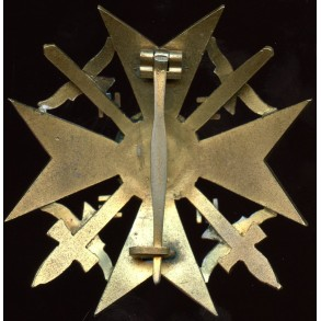 Spanish cross in gold with swords by Otto Schickle