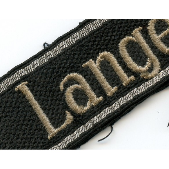 """SS cuff title """"Langemarck"""""""
