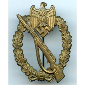 Infantry assault badge in bronze by Steinhauer & Lück