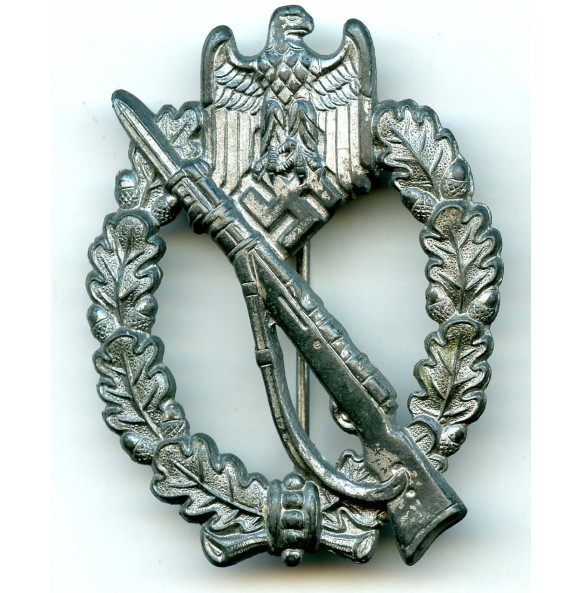Infantry assault badge in silver by Frank & Reif