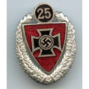Kyffhäuserbund 25 years membership pin