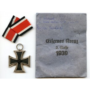 Iron cross 2nd class by J.E. Hammer & Söhne + package