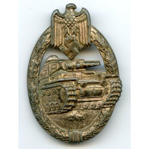 Panzer assault badge in silver by P. Meybauer, 2nd pattern