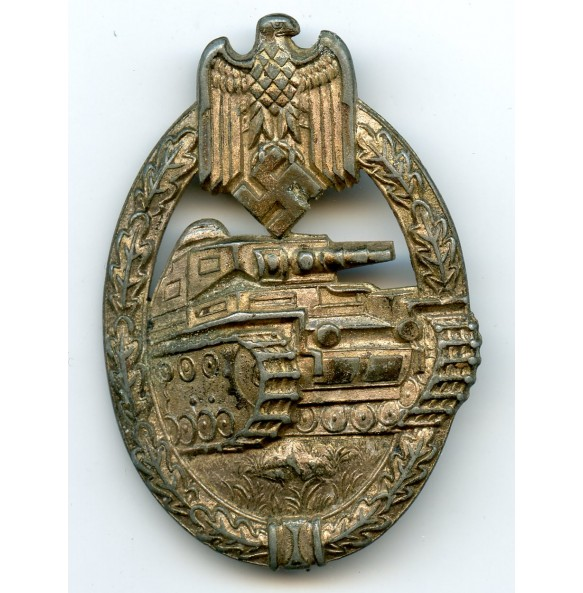 Panzer assault badge in silver by P. Meybauer, 2nd pattern