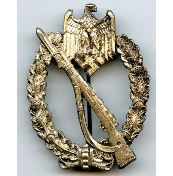 Infantry assault badge in silver by C.E. Juncker