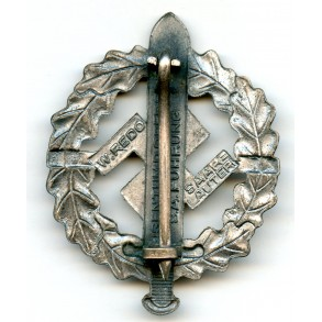SA sport badge in silver by W. Redo