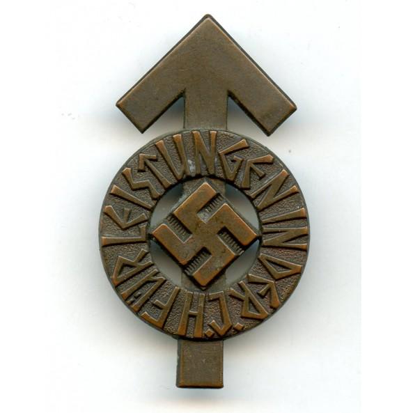 """HJ leader proficiency badge in bronze by Steinhauer & Lück """"M1/63"""" #195896"""