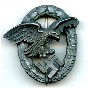 """Luftwaffe observer badge by P. Meybauer """"PM"""""""