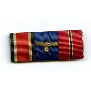 3 place ribbon bar with EK2 and service award
