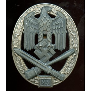 "General assault badge 25 assaults by Josef Feix ""JFS"""