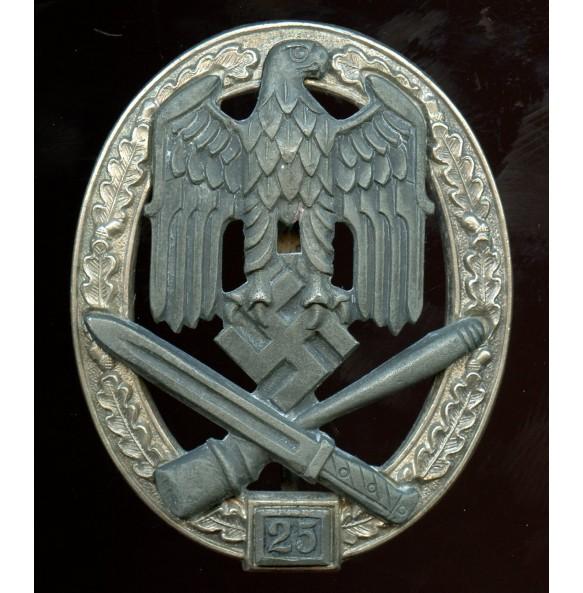 """General assault badge 25 assaults by Josef Feix """"JFS"""""""