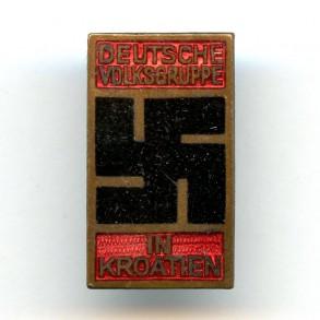 Membership pin Deutsche Volkgruppe in Kroatien