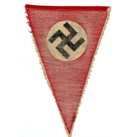 Third Reich cloth swastika pennant 27cm