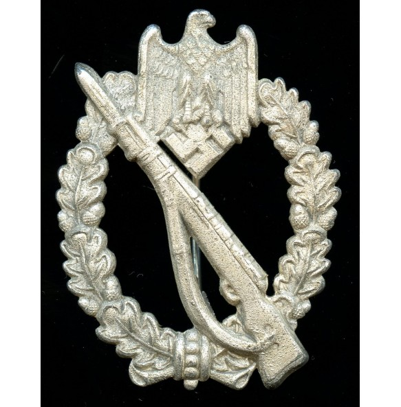 Infantry assault badge in silver by Brüder Schneider A.G.
