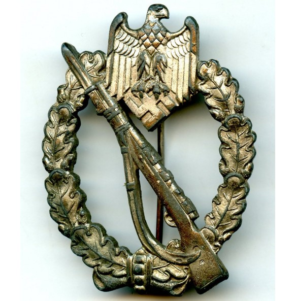 Infantry assault badge in silver by C.E. JunckerInfantry assault badge in silver by C.E. Juncker