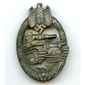 "Panzer assault badge in bronze by Karl Wurster K.G ""KWM"""