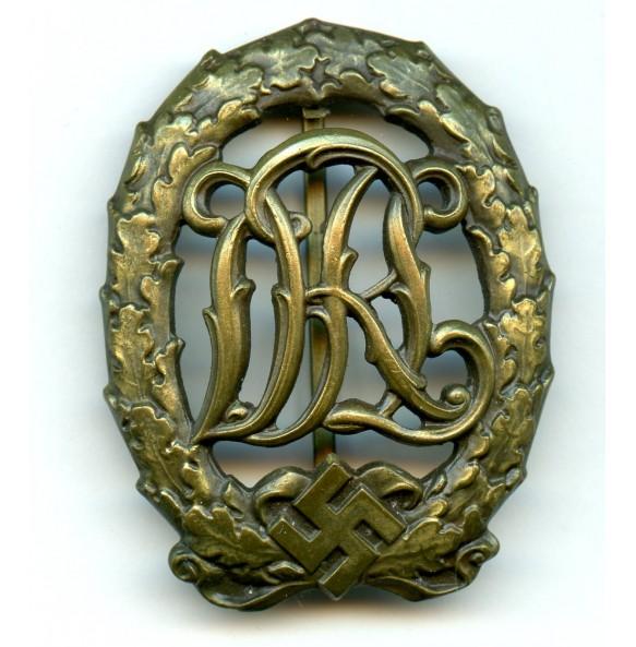 DRL sport badge in bronze by Wernstein, Jena