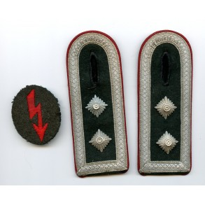 Set of cloth insignia for artillery NCO