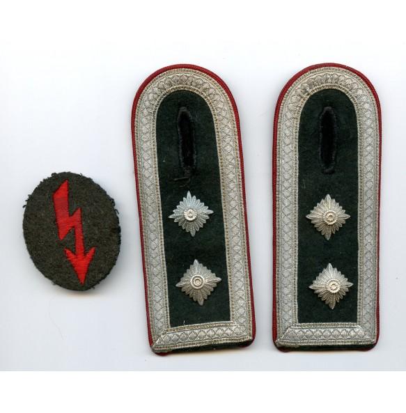 Set of cloth insignia for artillery NCO