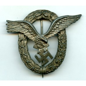 "Luftwaffe combined pilot observer badge by C.E. Juncker ""J4"""