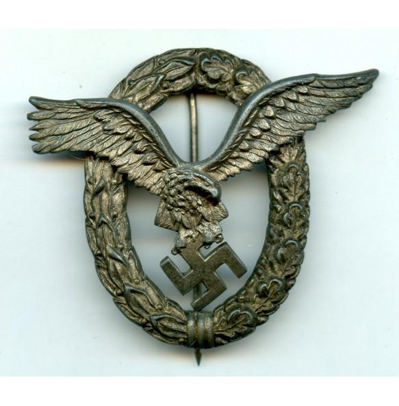"Luftwaffe combined pilot observer badge by C.E. Juncker ""J4"""