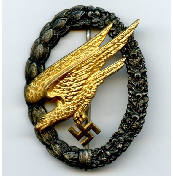 "Luftwaffe paratrooper badge by Gebr. Wegerhoff ""GWL"""
