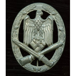 "General assault badge in silver by F.W. Assmann & Sohn ""A"""