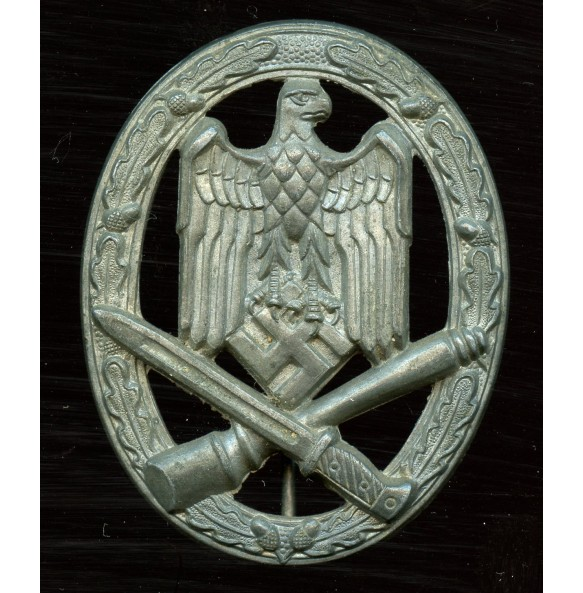 "General assault badge in silver by F.W. Assmann & Sohn ""A"""