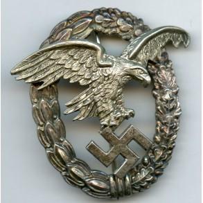 """Luftwaffe observer badge by Gebr. Wegerhoff """"GWL"""""""
