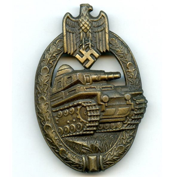 Panzer assault badge in bronze by A.S.