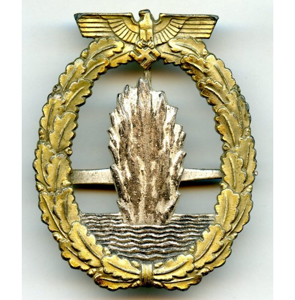 Kriegsmarine minesweeper badge by W. Deumer