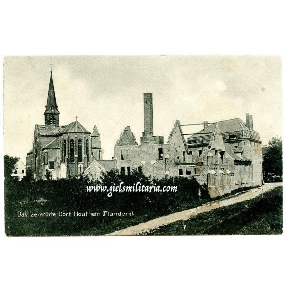 WW1 postcard Houthem, Flanders