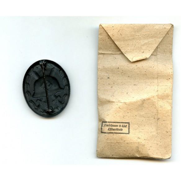"""Wound badge in black by Steinhauer & Lück """"4"""" + package"""