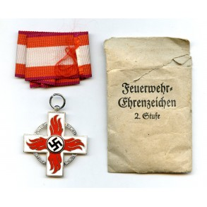 Fire brigade cross 2nd class by Karl Wurster + package