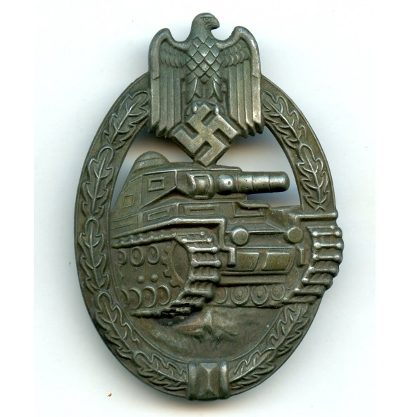 "Panzer assault badge in bronze ""Schickle/Mayer design"""