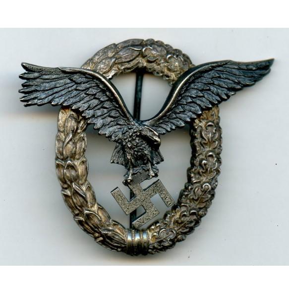 Luftwaffe pilot badge by W.  Deumer