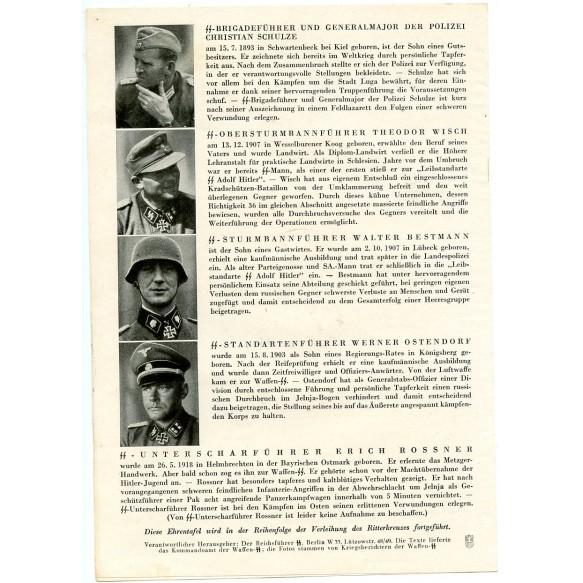 """Small brochure """"Die Ritterkreuzträger der Waffen-SS"""""""