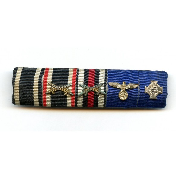 5 place ribbon bar, wehrmacht long service