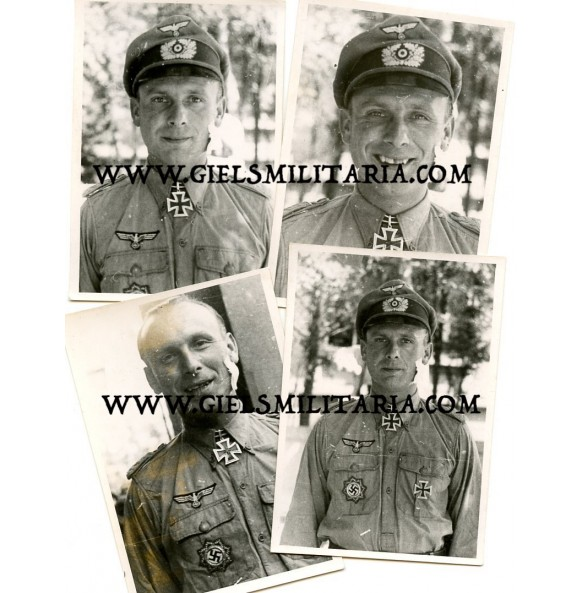 Small lot of 4 private photos of oakleaf winner Oberst Kuno von Meyer