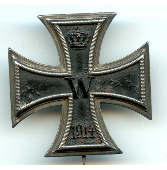 "WW1 Iron cross 1st class by Walter Schott ""WS"""
