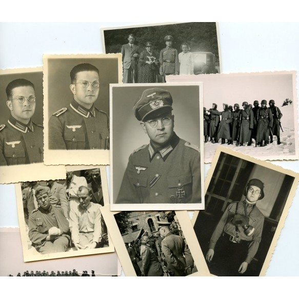 Small photo lot decorated Wehrmacht officer with iron cross 1st class