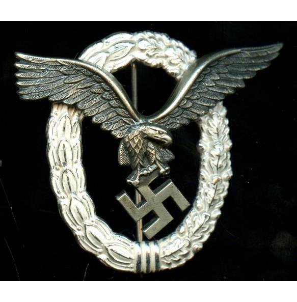 "Luftwaffe pilot badge by Gebr. Wegerhoff ""GWL"" MINT"