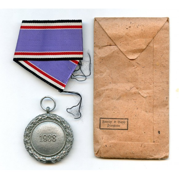 "Luftschutz medal by Foerster & Barth ""40"" + package"