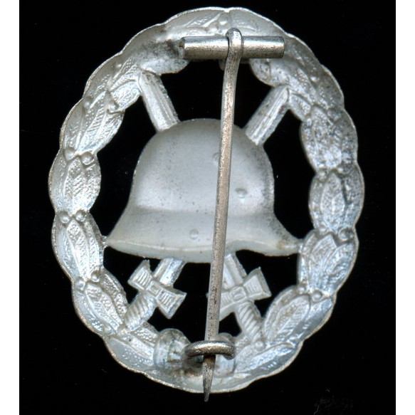 WW1 wound badge in silver, cut out variant MINT