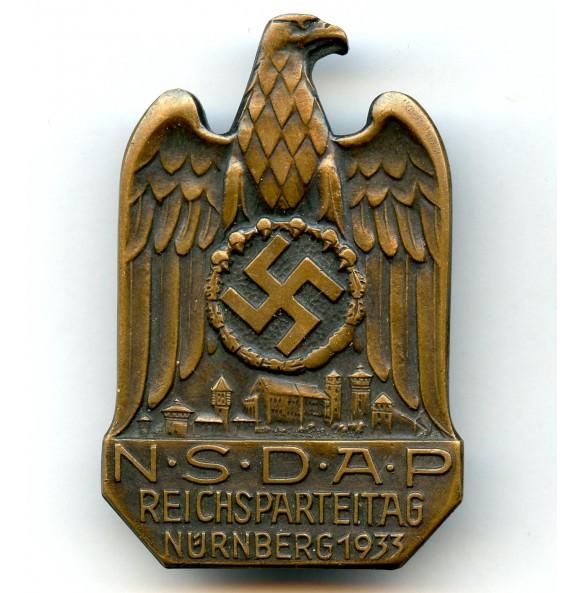 Reichsparteitag Nürnberg 1933 badgen, scratched party number.