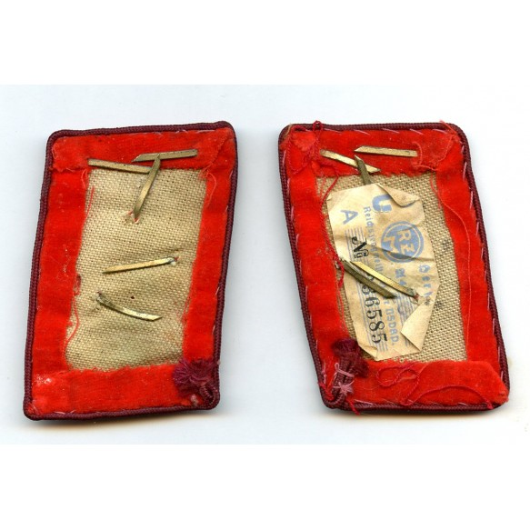 """Pair of NSDAP """"Bereichsleiter"""" collar tabs with RZM tag"""