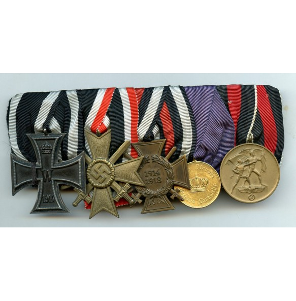 5 place medal bar