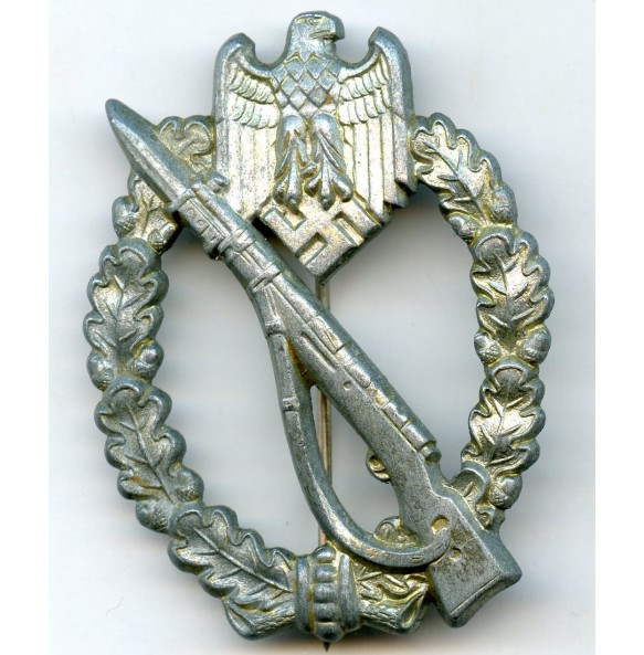 "Infantry assault badge in silver by Gebr. Wegerhoff ""GWL"""