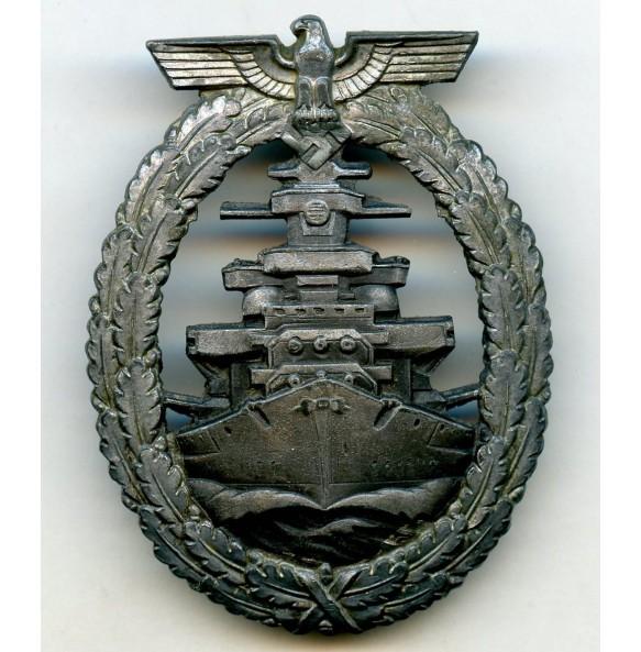 Kriegsmarine High Seas fleet badge by Schwerin, renazified