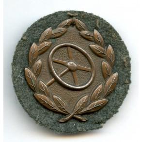 Driver's badge in bronze